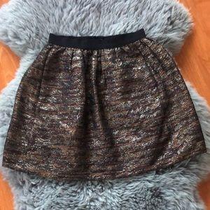 Wilfred Metallic Twill Miniskirt